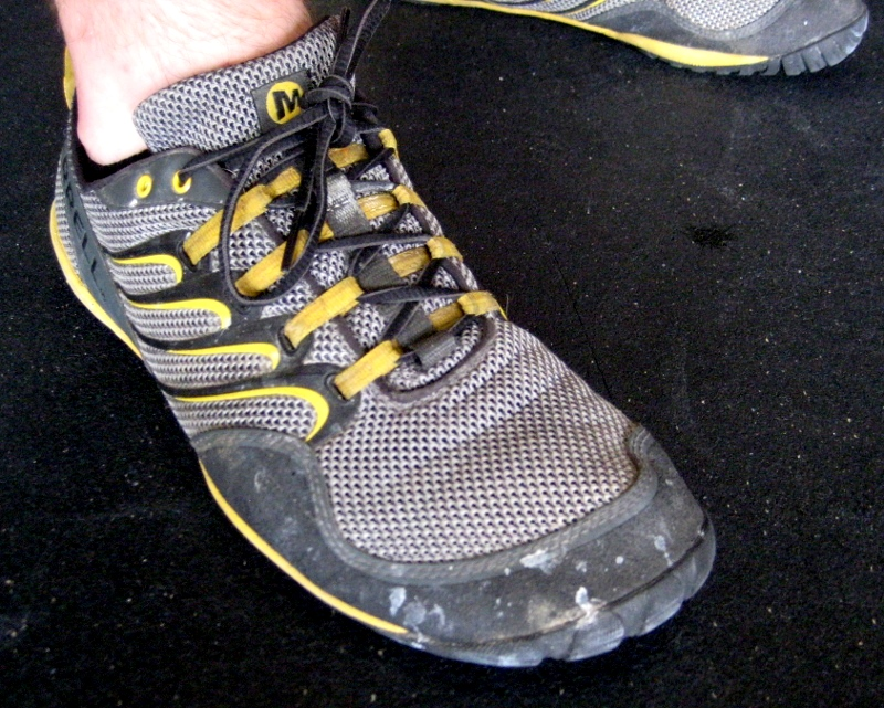 The Merrell Barefoot Trail Glove.  The wearer of this shoe got a 1:38 Grace shortly after this photo was taken.