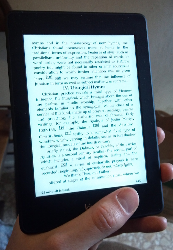 The Kindle Paperwhite is Better than a Real Book